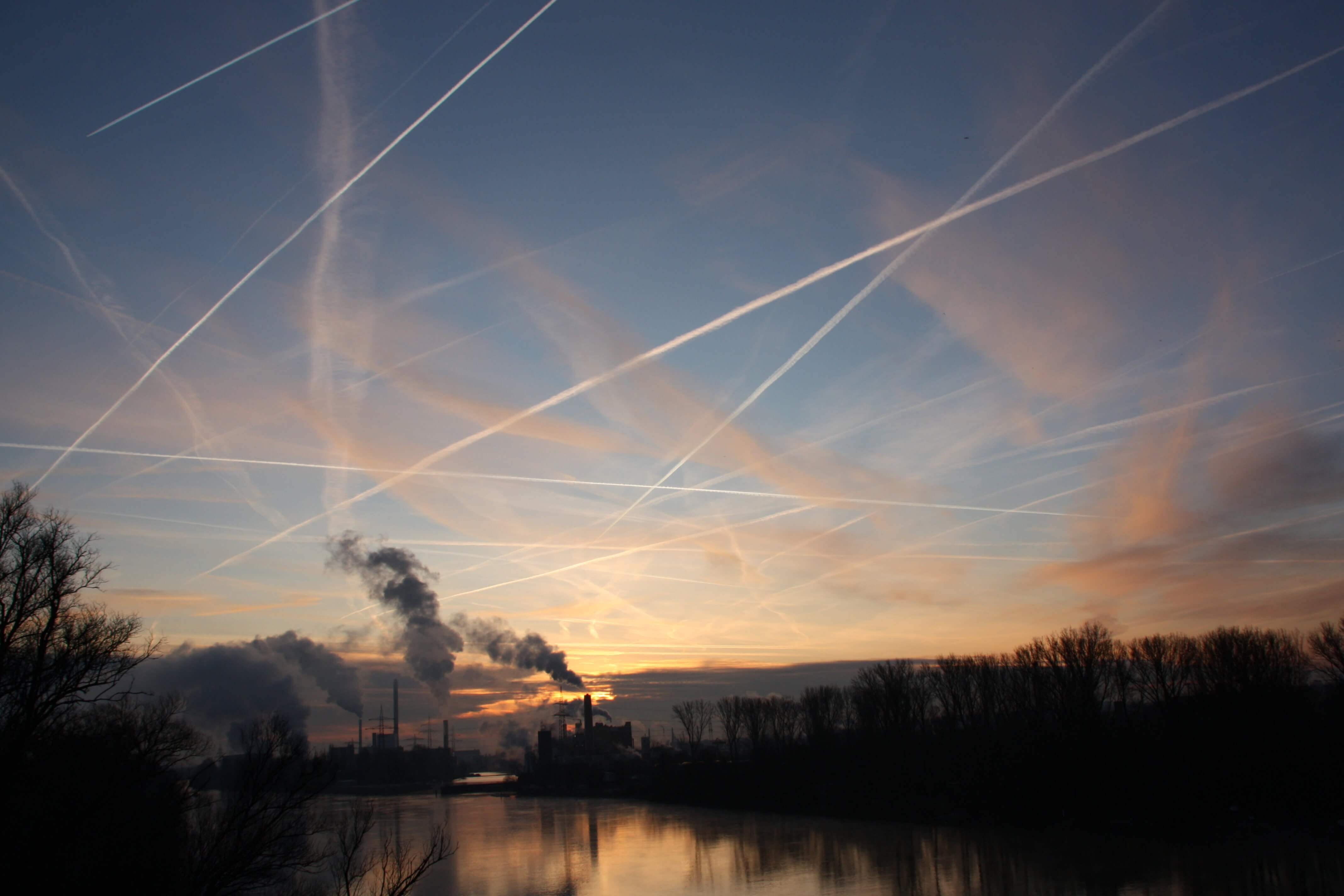 Fluglinien Himmel