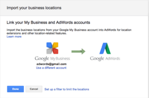 my business adwords