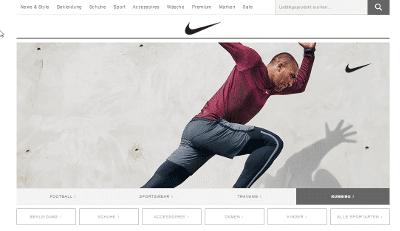 Zielseite Sitelinks Search Box von Nike