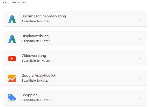 KlickPiloten Google Zertifizierungen