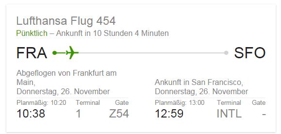 Flugstatus Google