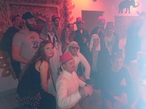 Auch die Kollegen von brickfox hatten sich in orientalische Schale geschmissen.