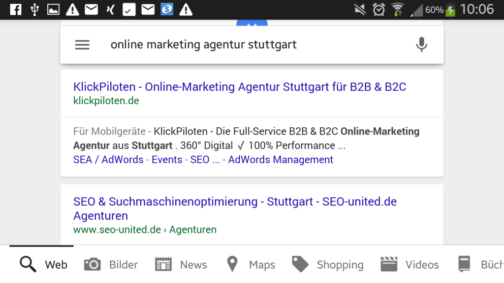 mobile Google-Snippet