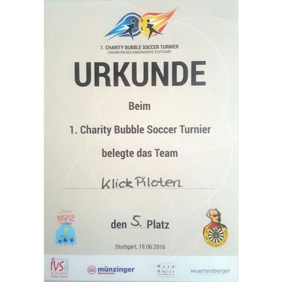 Bubble-Soccer-Urkunde