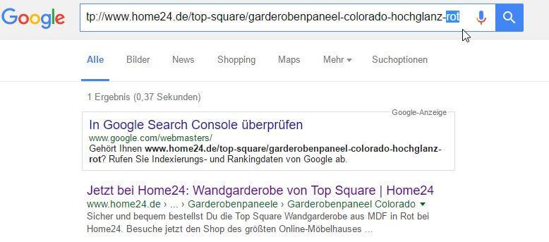 site-Abfrage Variante rot von home24