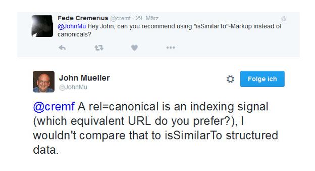 John Müller issimilarto vs. Canonical Tag