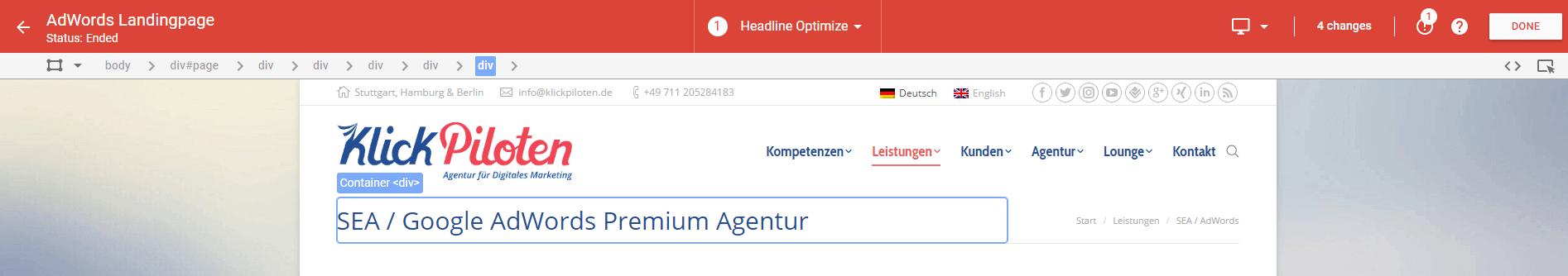 Add-On-von-Google-Optimize