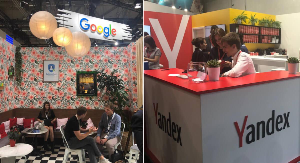 Google & Yandex auf dmexco in Köln, 2018